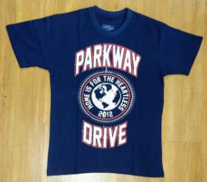 "Parkway Drive ""Home Is for the Heartless"" Camiseta Azul"