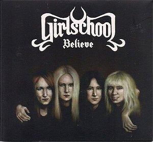 """Girlschool """"Believe"""" Vinil 12"""" Preto"""