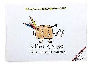 """Fábio Mozine """"Crackinho Para Colorir Vol.1"""" Livro"""