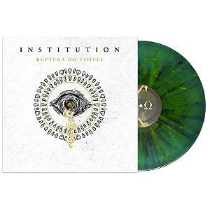 "Institution ""Ruptura do Visível"" Vinil 12"" Verde com Splatter Colorido"