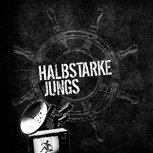 """The Bullet Kings & Halbstarke Jungs Split Vinil 7"""" Vermelho"""