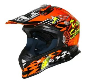Capacete Helt Cross Mx Bull Orange