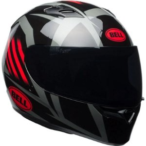 Capacete Bell Qualifier Blaze Gloss Black Red Titanium