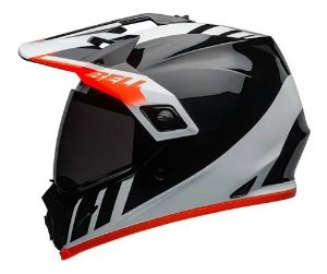 Capacete Bell MX9 Adventure MIPS Dash Black White Orange