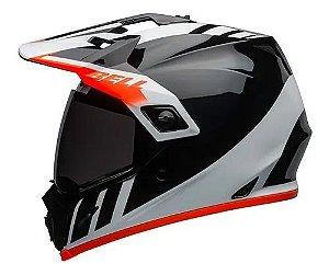 Capacete Bell MX9 Adventure MIPS Dash Black White Orange