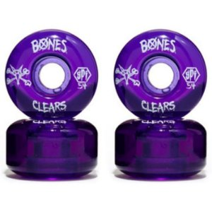 RODA BONES CLEAR 54MM PURPLE 104A