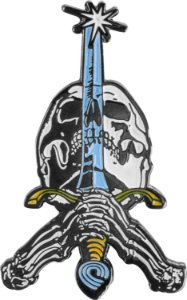 PIN POWELL PERALTA SKULL AND SWORD