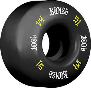 RODA BONES 100s 51MM BLACK/YELLOW