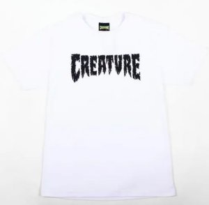 Camiseta Creature shredded branca GG
