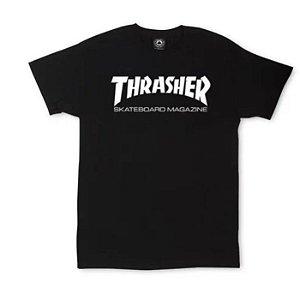 CAMISETA THRASHER FEMININA SKATE MAG BLACK TAM. G