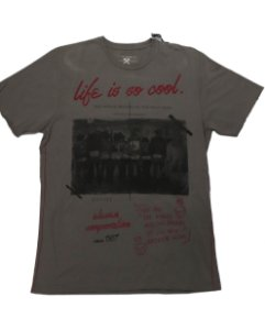 CAMISETA ELEVEN LIFE IS SO COOL CINZA