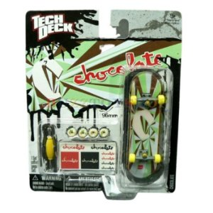 FINGERBOARD TECH DECH CHOCOLATE VERDE ABSTRATO