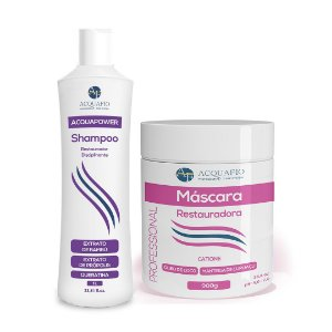Kit Máscara Restauradora e Shampoo Anti-Elástico Acquafio