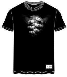 camiseta preta hands