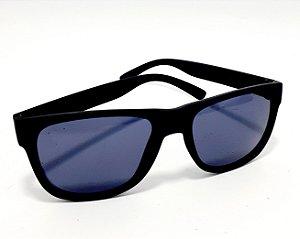 Óculos De Sol Adulto Com Armação Preto Fosco