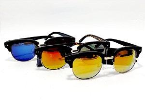 Óculos De Sol Adulto Com Lente Espelhada - Colorido