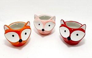 Vaso Fox De Cerâmica Decorativo - Colorido