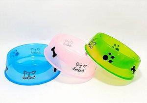 Comedouro De Plástico Pequeno Para Pets - Colorido