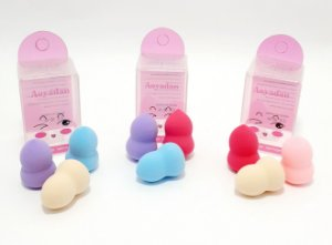 Kit Com 3 Mini Esponjas Para Maquiagem - Colorido