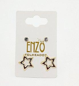 Cartela Com 2 Pares De Brincos Dourado - REF: PT0441