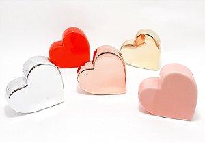Enfeite Decorativo Médio De Cerâmica - Temático Coração Deitado