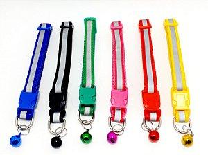 Coleira Para Pet De Nylon Ajustável Com Guizo (Sininho) - Colorido