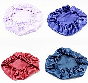 Touca Cetim Anti Frizz Com Elástico - Colorido