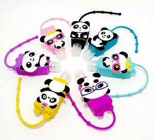 Frasco Quadrado Para Álcool Em Gel Com Capa Em Silicone - Temático Panda