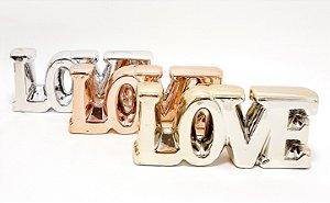 Enfeite Decorativo De Cerâmica Médio Colorido - Temático Love