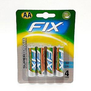 Cartela Com 4 Pilhas AA - Fix