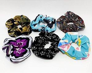 Elástico De Tecido Para Cabelo Scrunchie - Estampado