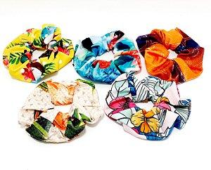 Elástico De Tecido Para Cabelo Scrunchie - Estampado Colorido