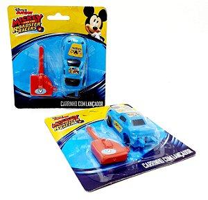 2 Carrinhos Com Lançador Mickey Aventuras Sobre Rodas - EtiToys