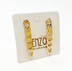 Brinco Ear Cuff Coração Dourado - REF: PT0461