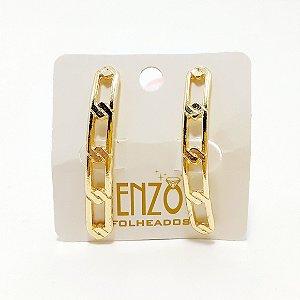 Brinco Ear Cuff Dourado Vazado - REF: PT0466