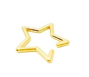 Piercing Fake Dourado - Estrela G