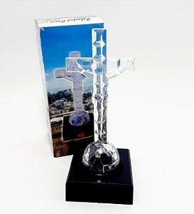 Figura Luminosa Em Plástico Crucifixo Led - 14cm