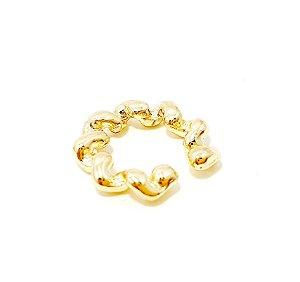 Piercing Fake Argolinha Pequena Trançada - Dourado