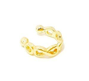 Piercing Fake Argolinha Infinito - Dourado