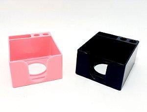 Organizador De Mesa Porta Caneta/Post-it De Plástico - Colorido