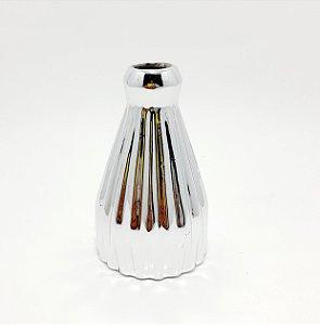 Vasinho De Cerâmica Tridimensional - Prateado