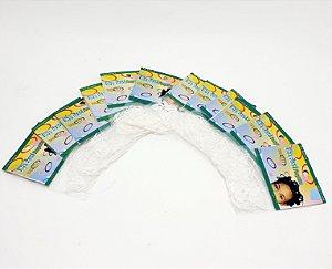 Embalagem Com 12 Pacotes De Elástico Para Cabelo De Silicone - Branco