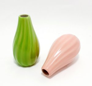 Vasinho De Cerâmica Tridimensional - Tons Claros
