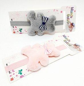 Faixa De Cabelo Para Bebê Com Pompom - Ursinho