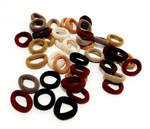 Elástico Para Cabelo Colorido - Pequeno - Pacote Com 40 Unid