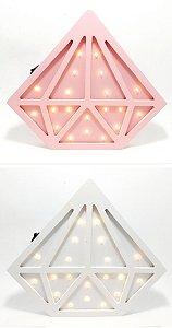 Luminária Em MDF Temático - Diamante