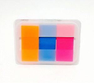 Bloco Adesivo Pequeno Com 3 Tiras Coloridas