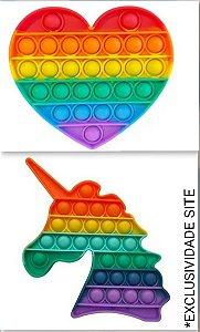 Pop It Médio Brinquedo Sensorial - Colorido