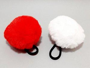 Elástico Para Cabelo Com Pompom Grande - Colorido