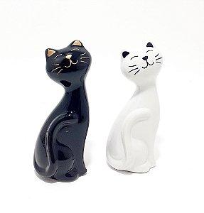 Enfeite Decorativo De Porcelana - Gatinho